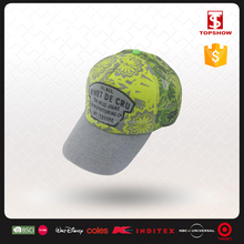 Plain dyed blank 100% polyester soft baseball cap with light color