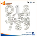40 Inch Silver Color Number Foil balloons, Giant Numbers for Party and Wedding