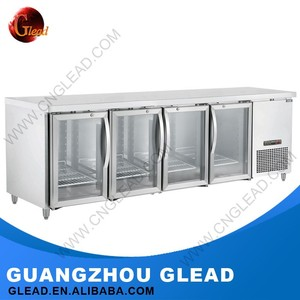 Commercial industrial Stainless steel salad bar refrigerator undercounter chiller