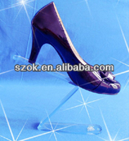wholesale acrylic clear single shoe display stand