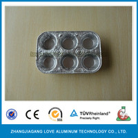 Convenient Best-Selling High Quality Disposable Aluminum Foil Egg Tart Trays Small Size