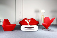 C-040W-Latest home make love sex sofa chair set Living room red lip fabric chair