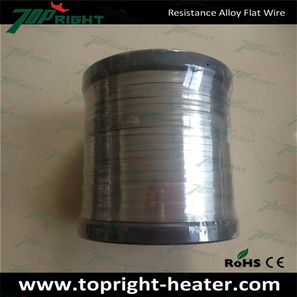 Nickel Chrome Alloy Element Wire Electrical Nichrome Alloy Flat 80 Wire