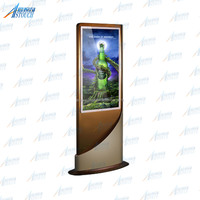 32 inch LCD advertising display stand hd media totem for multimedia kiosk design
