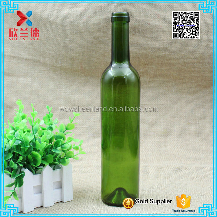 hot sale 500ml green glass bottle for red wine