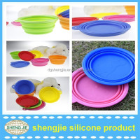 Collapsible silicone pet bowl dog bowl with FDA approval heated food bowl