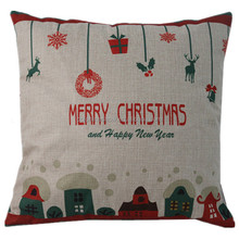 Various christmas decorative throw pillow cover fashion custom linen new design cushion cover