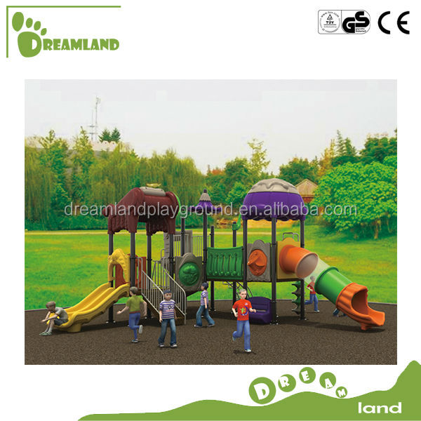 2014 new design cartoon series outdoor slides for children