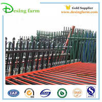 spear top wrought iron picket fence
