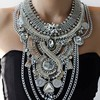 Fashion Anti Silver Big Statement Necklace