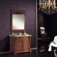 Single Basin Bathroom Cabinet with Mirror Made in China