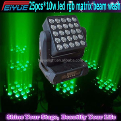 Used in Dj Night club Show Party NEW High Power 5*5 25*10w led dots Video Matrix Light