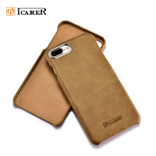 ICARER Genuine Leather Mobile Phone Skin for iphone 7 7 plus Case Back Cover
