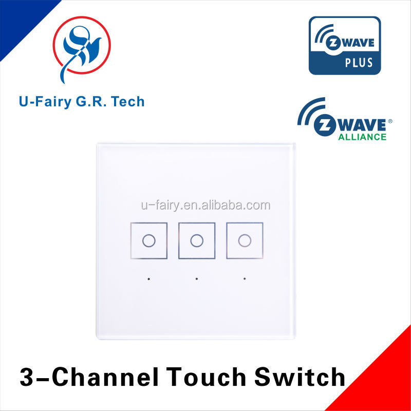 Zwave Smart Home Control Switch for three loads
