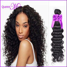 US free shipping deep wave human hair extensions 100 pure brazilian virgin human hair