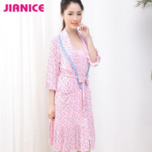 New fashion Modal sexy women's floral Nightgowns three-quater sleeve wholesale inquiry now