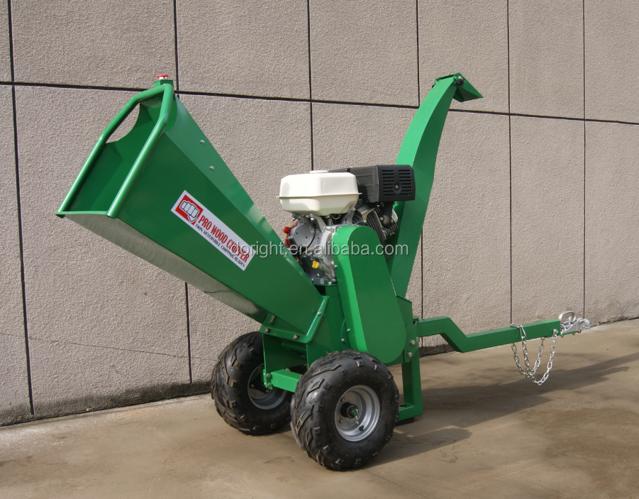 Jiangdong engine Chipper shredder best seller mobile wood chipping machine
