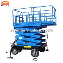 Movable scissor lift/ material handling equipment