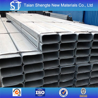 Factory price galvanized rectangular steel pipe