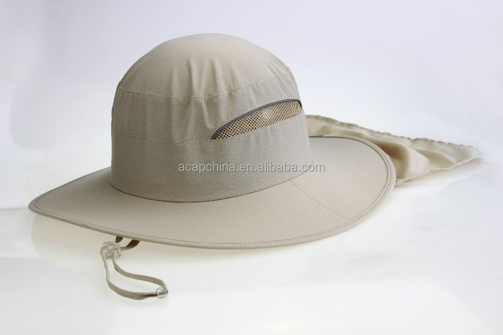 High Quality wide brim sun protection cloak Fishman hat