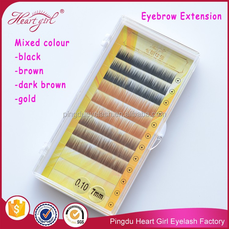 hand made eyebrow extension top quality OEM service eyebrow extension