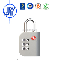 Factory directly supply zinc alloy 3-dial luggage tsa lock