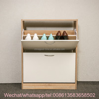 KD design wooden shoe storage cabinet