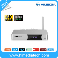 Blue tooth 4.0 2GM RAM 16G FLASH HiMedia Q5 pro quad core 4K android tv box arabic channels google tv box set top box