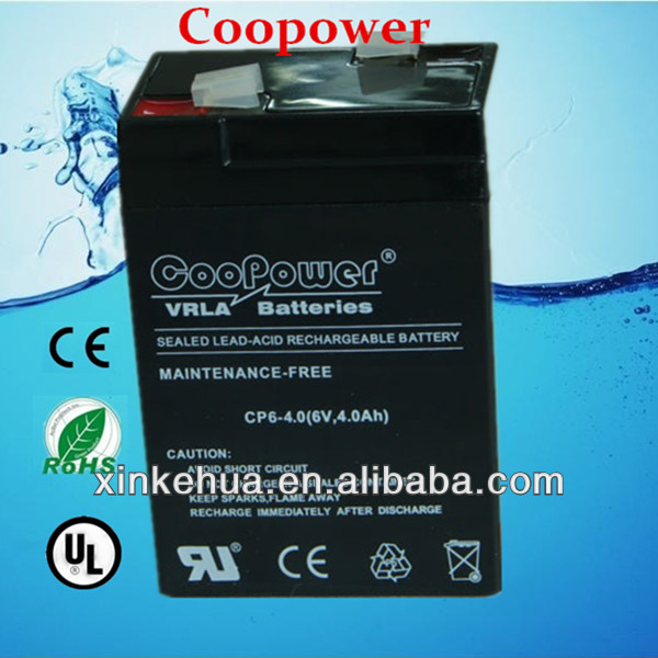 6v4ah rechargeable lead acid battery for ups/eps or other emergency product
