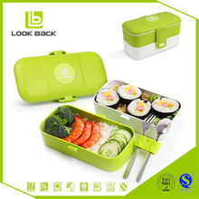 Personalized plastic lunch box cutlery set