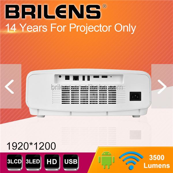 Brilens Native resolution 1920 <strong>X</strong> <strong>1200</strong> portable DLP laser logo projector, 3d 3LED android projector