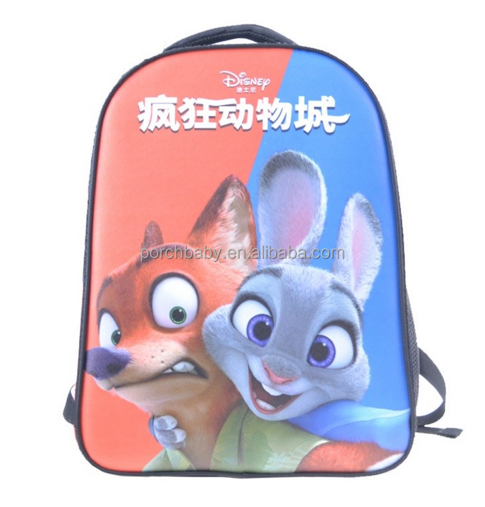 2016 3D Animal Eva Backpack Rucksack Custom Logo Fashion School bag