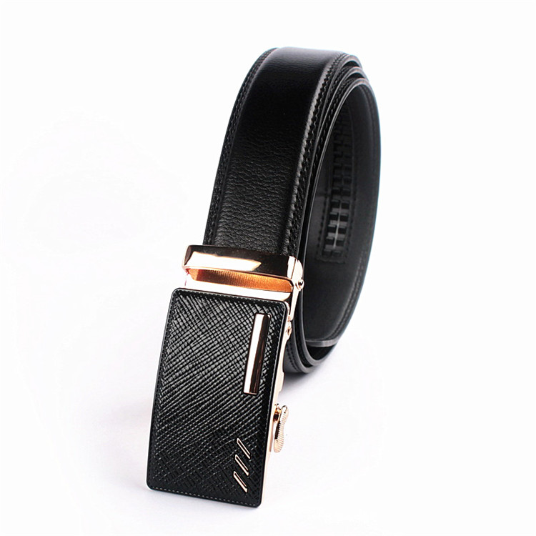 High quality gold automatic belt buckle custom printed leather belts