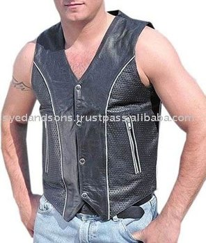 Gents Leather Vest Art No: 1322