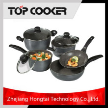 8PCS non-stick flower pots wholesale cookware set