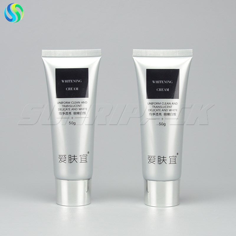 50g/2oz silver cosmetic plastic tube for BB cream