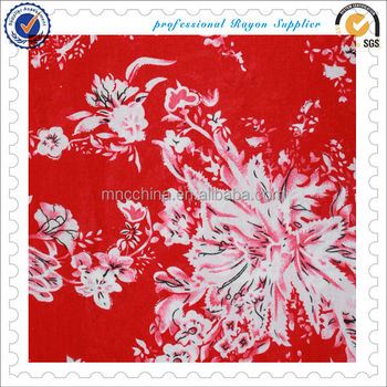 MR16003BP best selling 100%rayon printed challis fabric