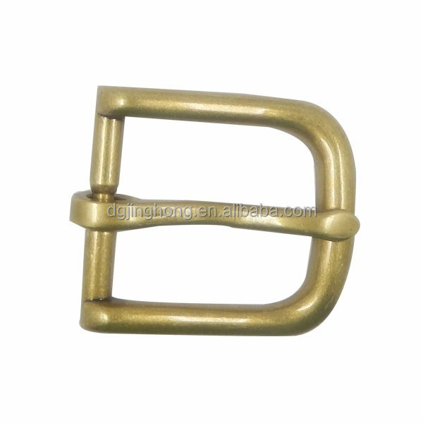 custom gold plated single pin cheap belt buckle