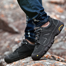 men's waterproof rubber hiking shoes mountain climbing shoes