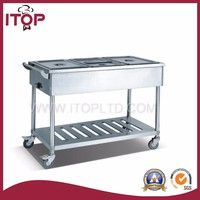 Economical bain marie trolley