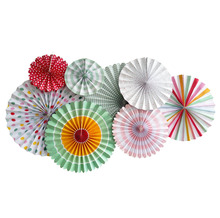 umiss paper colourful fold paper fans pinwheel flowers decrate your wedding paper art party decorations set of 8