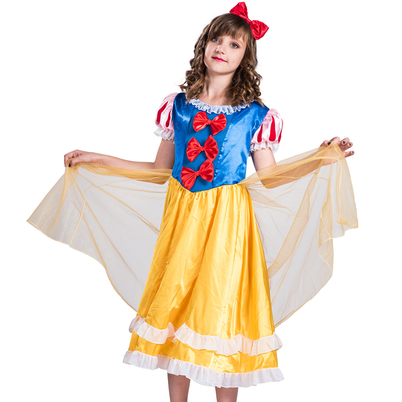 children Girls Snow White Fairy Tale Cosplay Costume Party Princess kids cartoon character costume