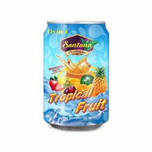 Natural fresh health canned tropical mix fruit juice drink