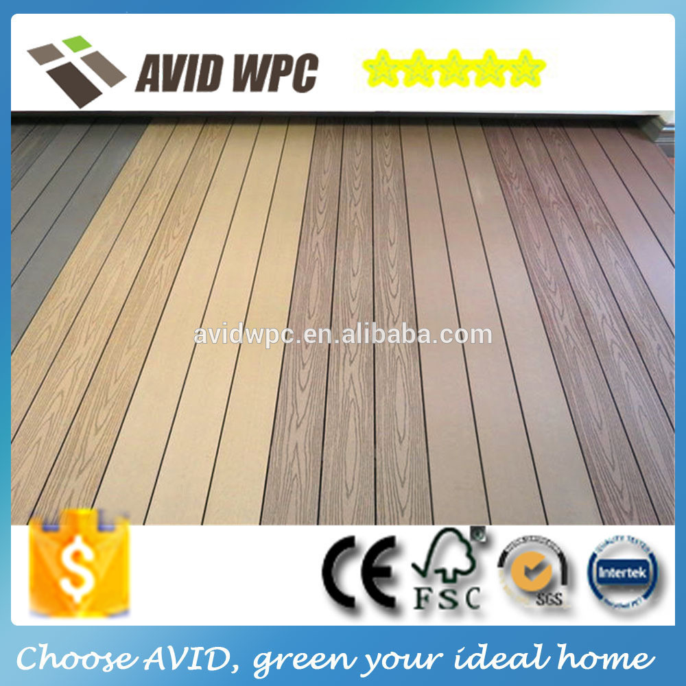 China supplier home depot anti slip weather resistant for Non slip composite decking