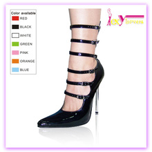European style new arrival china wholesale low price women pumps shoes buckle belt strap black sexy high heels shoes