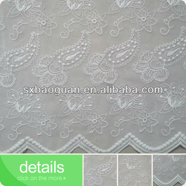 embroidery cotton fabric muslin net