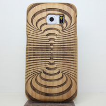 Real Natural Bamboo Wood Wooden Hard phone Case For Samsung Galaxy S3 laser engraving design mobile cover