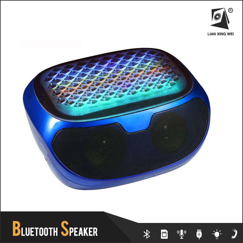 EOM 5W*2 Digital Video Player Q98 Portable Bluetooth Speaker With Led Light