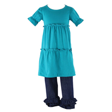 wholesale children boutique clothing usa toddler girls jeans ruffle kids boutique girl clothing