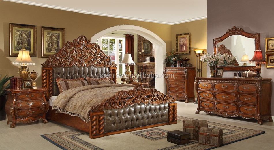 New classic american hand made wooden canopy bed bedroom American classic furniture company